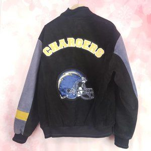 Vintage Suede Leather NFL Official Chargers Large